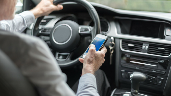 Texting and driving causes distractions and car accidents