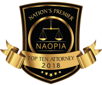 NAOPIA Top Ten Attorney 2018 Badge