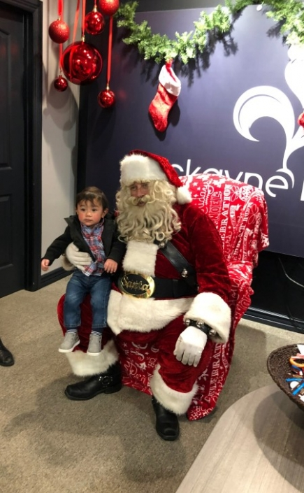 Santa Clause at Cockayne Law Firm Event
